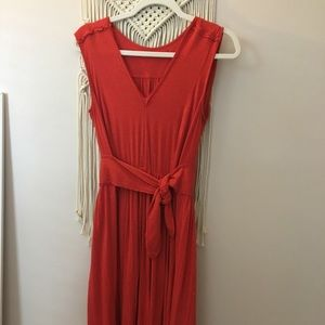 Burnt orange soft dress from Anthropology